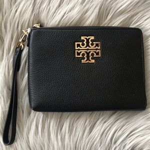 Tory Burch Large Britten Zip Pouch
